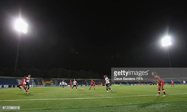 General view of the action during the FIFA U17 Women's World Cup Jordan 2016 Group B match between Germany and Canada at Amman International Stadium...