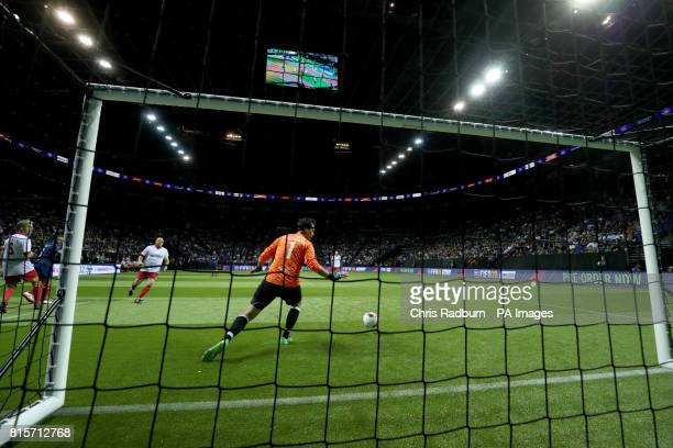 General view of the action during the final of the Star Sixes Tournament between France and Denmark at The O2 Arena London PRESS ASSOCIATION Photo...