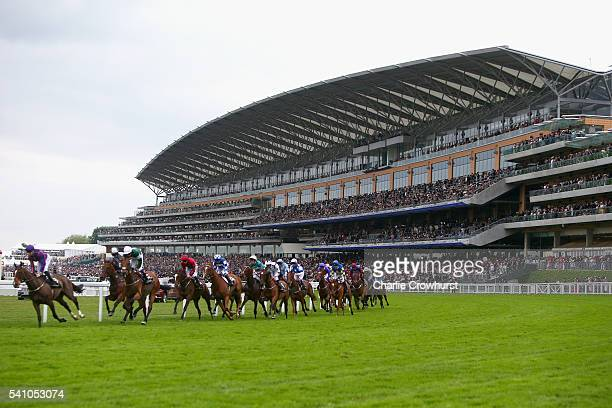 General view of the action during the Queen Alexandra Stakes on day 5 of Royal Ascot at Ascot Racecourse on June 18 2016 in Ascot England
