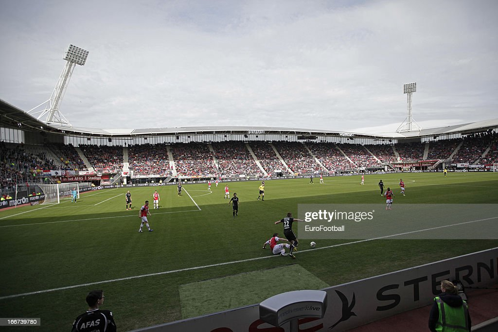 General view of the AFAS Stadion, home of AZ Alkmaar taken during the Dutch Eredivisie match between AZ Alkmaar and FC Utrecht held on April 14, 2013 at the AFAS Stadion in Alkmaar, Netherlands. AZ Alkmaar won the match with 6-0.