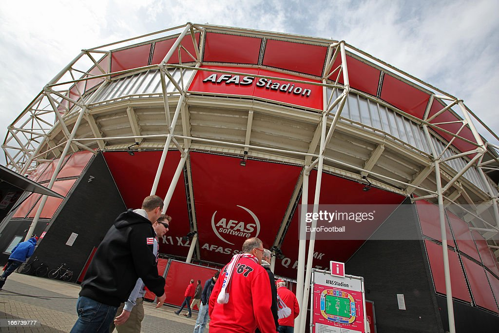General view of the AFAS Stadion, home of AZ Alkmaar taken prior to the Dutch Eredivisie match between AZ Alkmaar and FC Utrecht held on April 14, 2013 at the AFAS Stadion in Alkmaar, Netherlands. AZ Alkmaar won the match with 6-0.