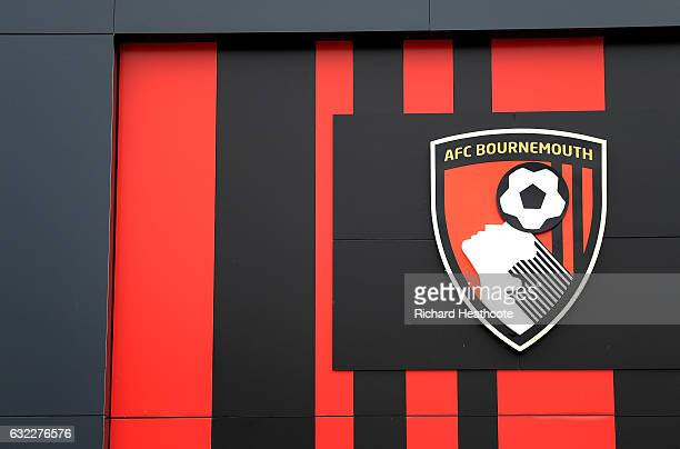 General view of the AFC Bournemouth logo outside the stadium prior to the Premier League match between AFC Bournemouth and Watford at Vitality...