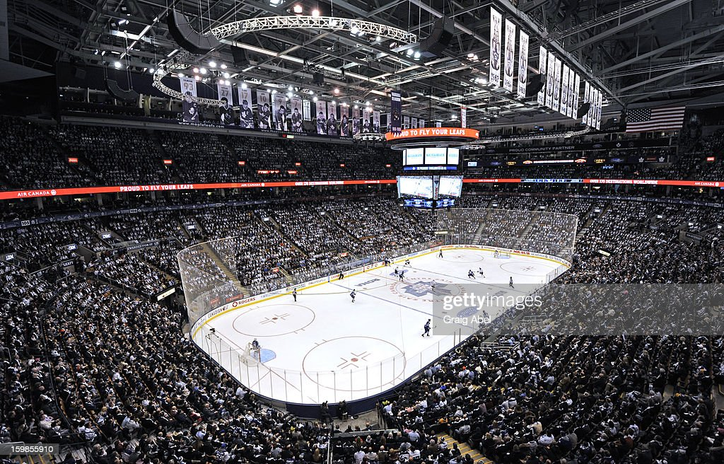 General view of the Air Canada Centre during NHL game action between the Toronto Maple Leafs and the Buffalo Sabres January 21, 2013 at the Air Canada Centre in Toronto, Ontario, Canada.