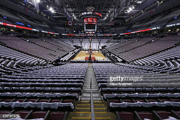 A general view of the Air Canada Centre prior to play between the Washington Wizards and the Toronto Raptors in Game One of the NBA Eastern...