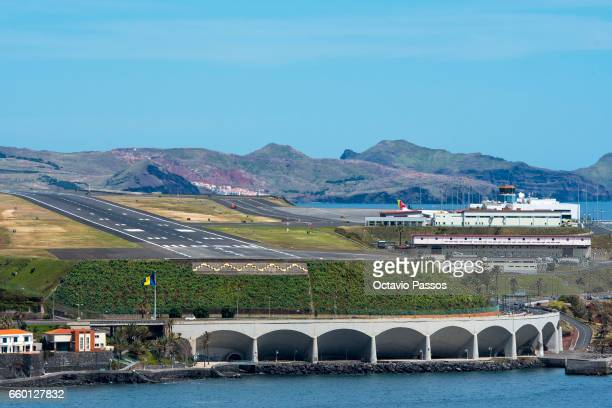 General view of the airport after the ceremony at Madeira Airport to rename it Cristiano Ronaldo Airport on March 29 2017 in Santa Cruz Madeira...