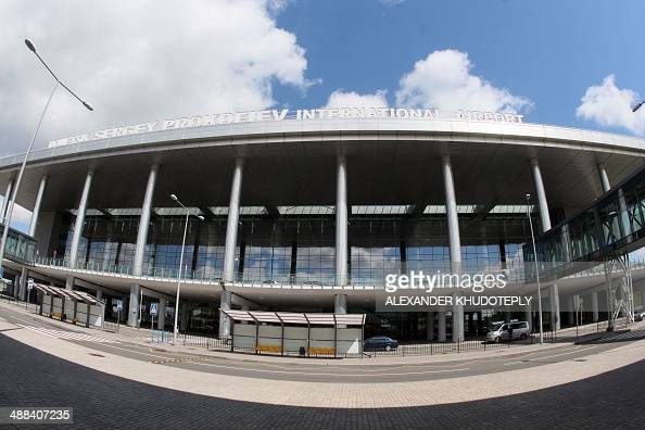 General view of the airport of Donetsk taken on May 6 as all flights in and out of the eastern Ukrainian city of Donetsk have been suspended No...