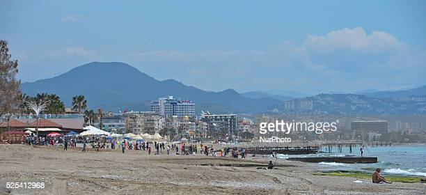 A general view of the Alanya beach Alanya Turkey on April 25 2015
