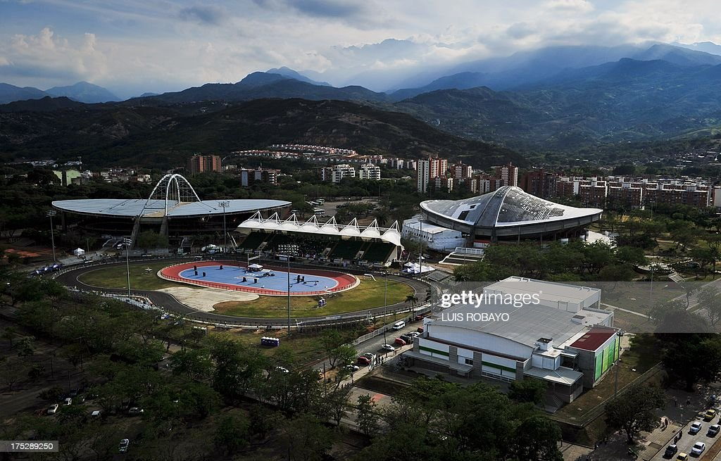 General view of the Alcides Nieto Patino Velodrome Mundialista Roller Skating Rink Del Pueblo Coliseum Bowling Coliseum on August 1 during the World...