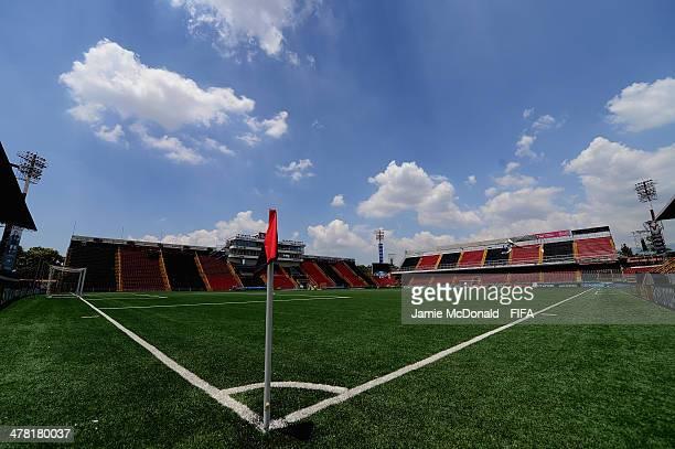A general view of the Alejandro Morera Soto Stadium on March 12 2014 in Alajuela Costa Rica