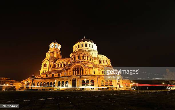 General view of the Alexander Nevsky Cathedral on January 31 2016 in Sofia Bulgaria