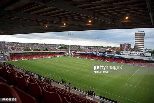 General view of The Alexandra Stadium prior to the PreSeason Friendly between Crewe Alexandra and Wolverhampton Wanderers at The Alexandra Stadium on...