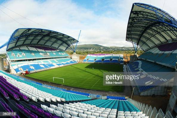 General view of the Algarve Stadium taken during a photoshoot held on December 1 2003 in FaroLoule Portugal The stadium will be used as one of the...
