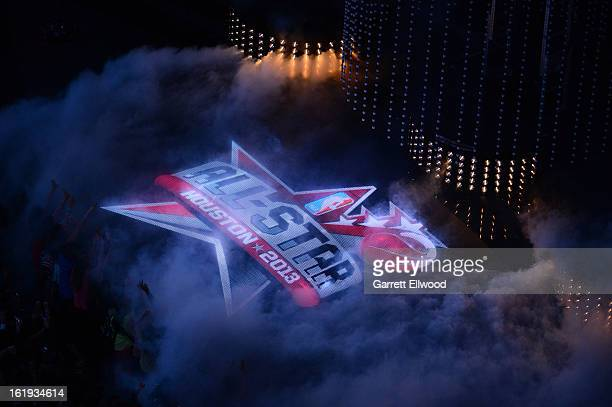A general view of the All Star logo during the 2013 NBA AllStar Game during All Star Weekend on February 17 2013 at the Toyota Center in Houston...