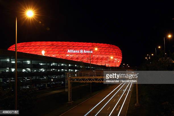 General view of the Allianz Arena during the Bundesliga match between Bayern Muenchen and SC Paderborn 07 at Allianz Arena on September 23 2014 in...