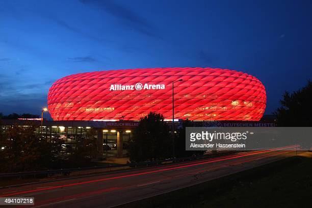General view of the Allianz Arena during the Bundesliga match between FC Bayern Muenchen and 1 FC Koeln at Allianz Arena on October 24 2015 in Munich...
