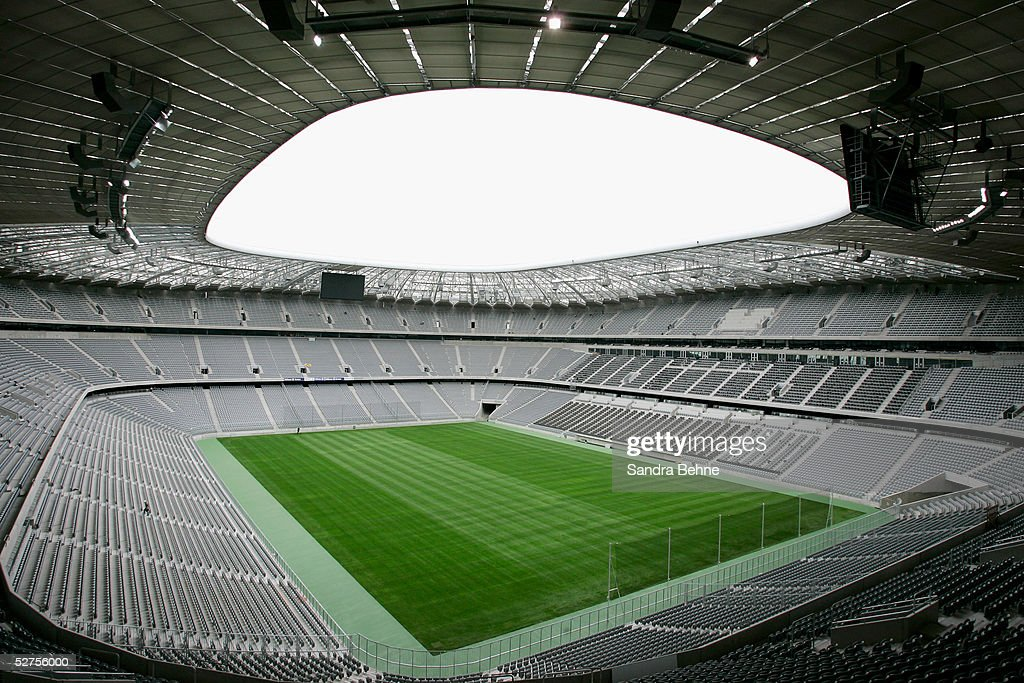 A general view of the Allianz Arena on May 3 2005 in Munich Germany The Allianz Arena will be the future home stadium of soccer clubs FC Bayern...