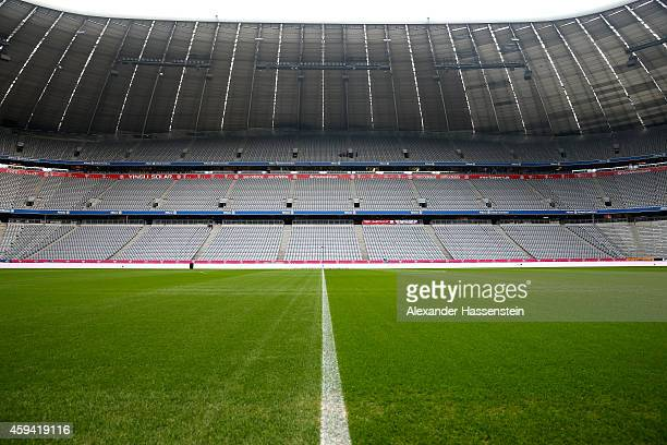 General view of the Allianz Arena prior to the Bundesliga match between FC Bayern Muenchen and 1899 Hoffenheim at Allianz Arena on November 22 2014...
