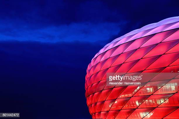 General view of the Allianz Arena prior to the round of 16 DFB Cup match between FC Bayern Muenchen and Darmstadt 98 at Allianz Arena on December 15...