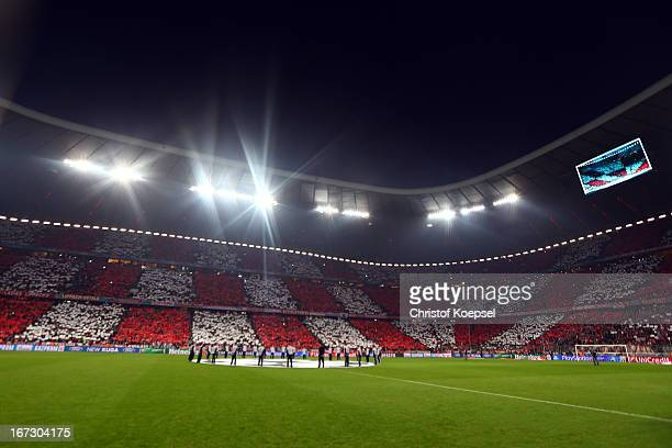General view of the Allianz Arena prior to the UEFA Champions League semi final first leg match between FC Bayern Muenchen and FC Barcelona at...