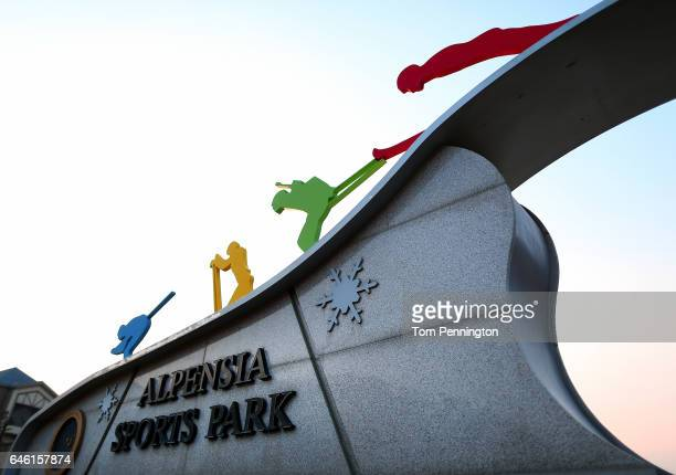 A general view of the Alpensia Sports Park in the Pyeongchang Mountain Cluster host of the Pyeongchang 2018 Winter Olympic Games on February 28 2017...