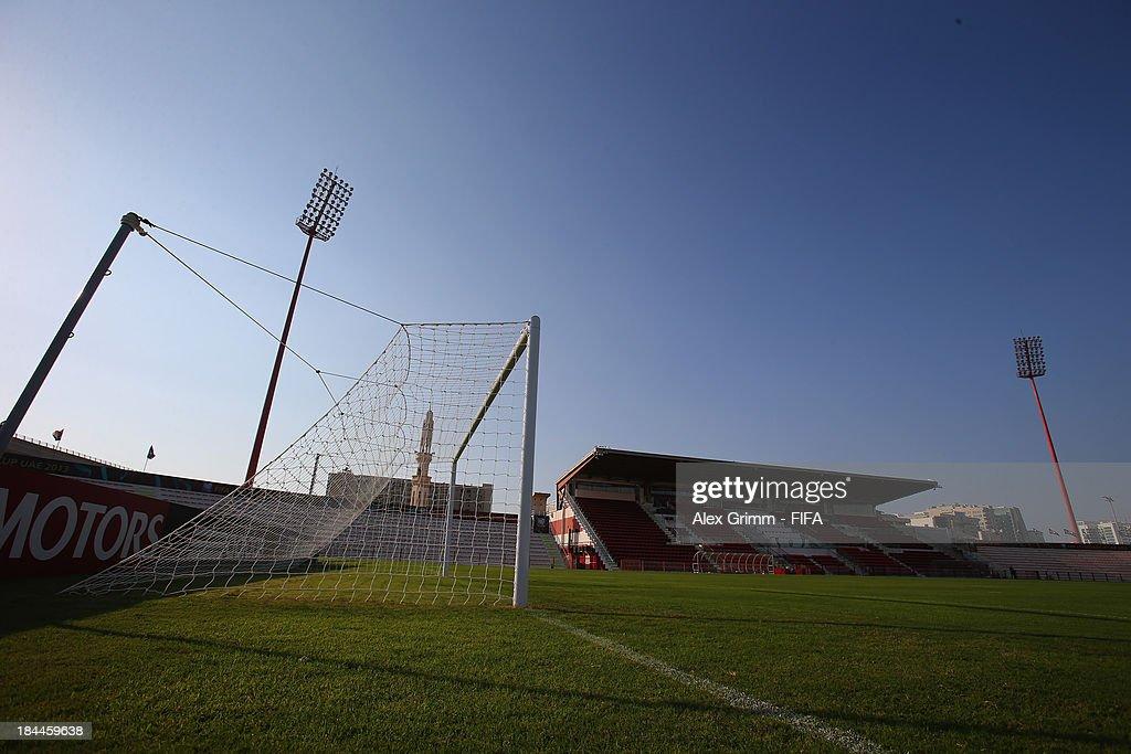 General view of the Al-Rashid stadium ahead of the FIFA U-17 World Cup UAE 2103 on October 14, 2013 in Dubai, United Arab Emirates.