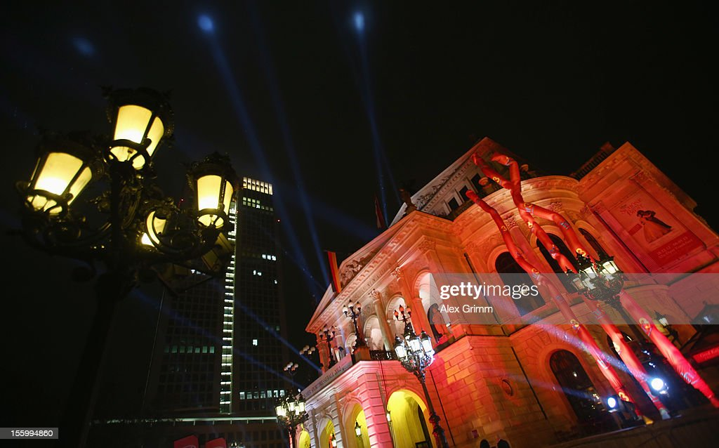 General view of the Alte Oper prior to the 31. Sportpresseball on November 10, 2012 in Frankfurt am Main, Germany.