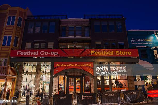 General view of the ambiance on Main Street during the Sundance Film Festival in Park City Utah January 25 2016 / AFP / Valerie MACON
