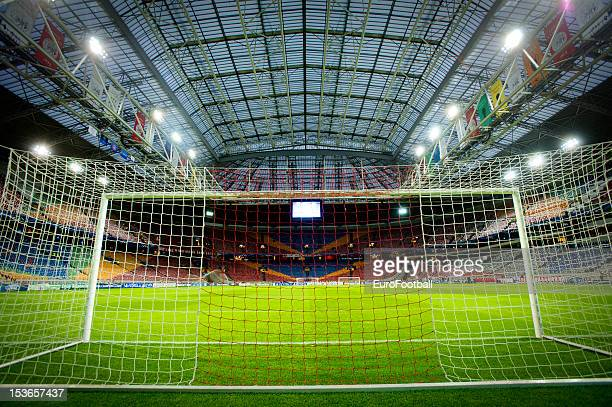 General view of the Amsterdam ArenA home of AFC Ajax taken during the UEFA Champions League group stage match between AFC Ajax and Real Madrid CF at...