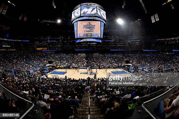 A general view of the Amway Center during the game between the Orlando Magic and the Los Angeles Lakers on December 23 2016 at Amway Center in...
