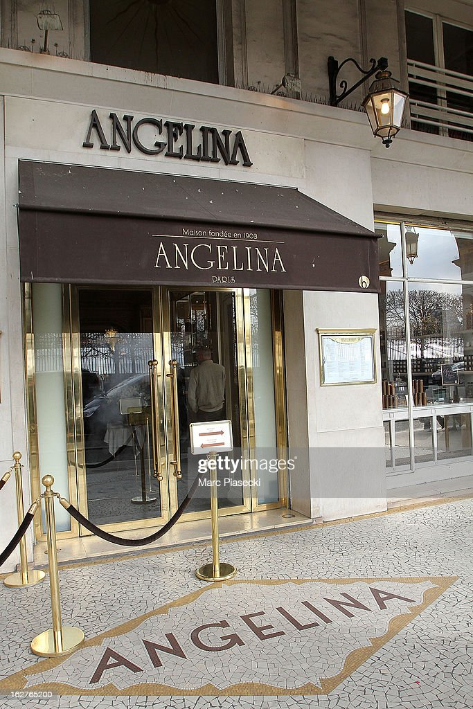 A general view of the 'Angelina' tea room on February 26, 2013 in Paris, France.