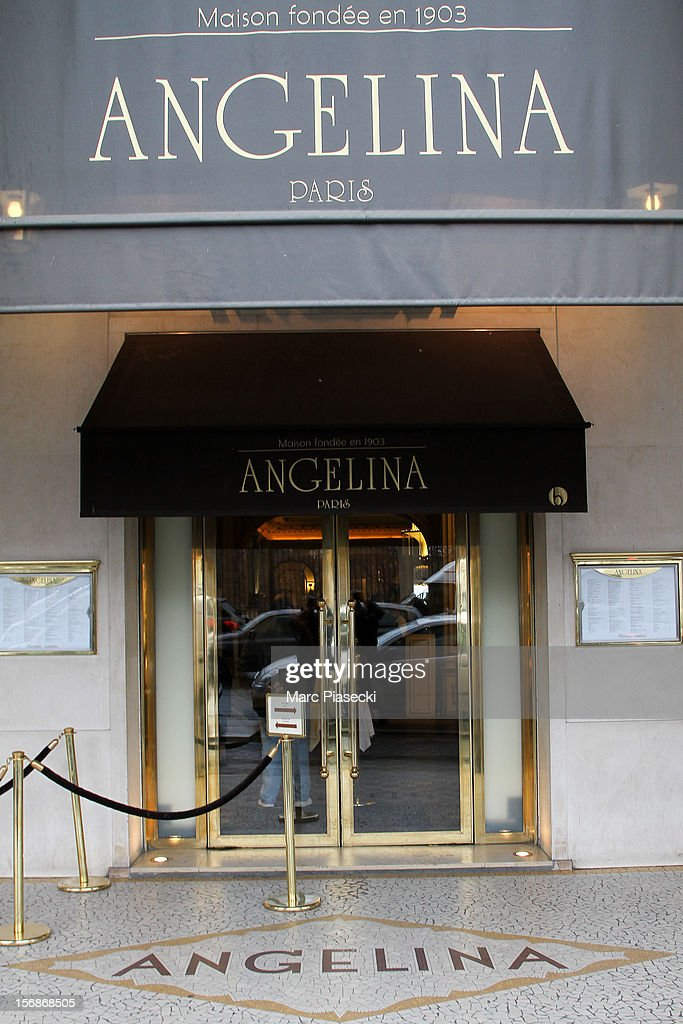 A general view of the 'Angelina' tearoom on November 23, 2012 in Paris, France.