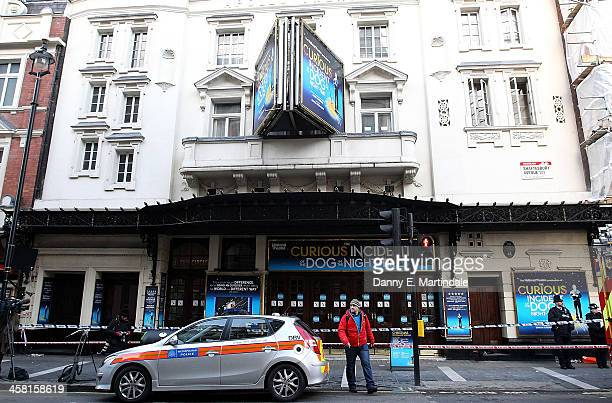 General view of the Apollo Theatre following the partial collapse of the theatre's roof last night on December 20 2013 in London England 76 people...