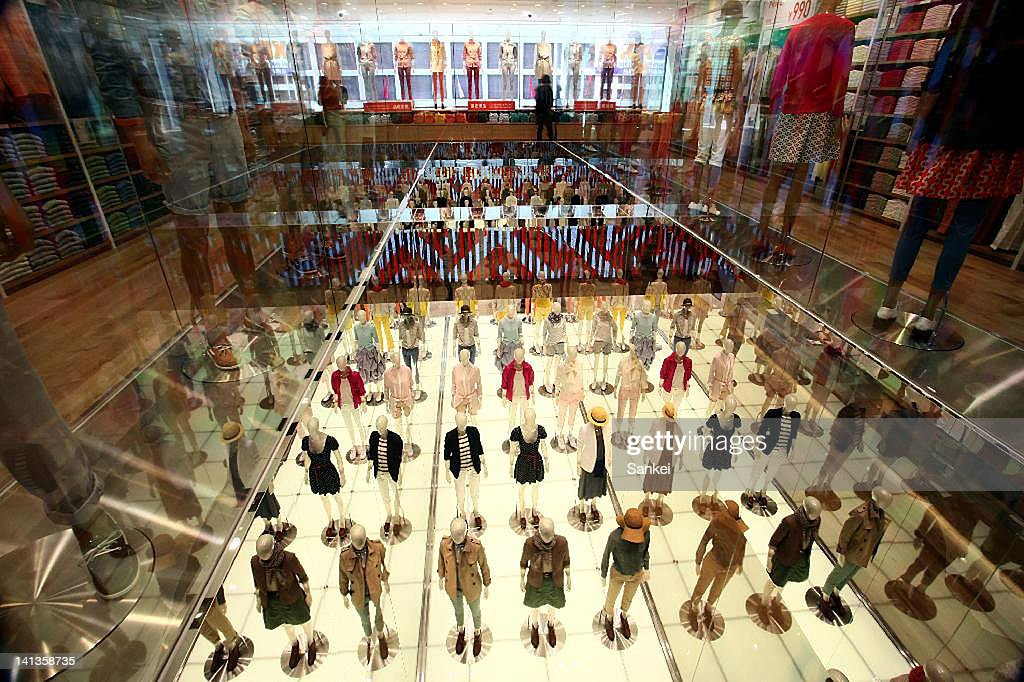 General view of the apparel retailer Uniqlo global flagship store on March 14 2012 in Tokyo Japan The store located in the shopping district of Ginza...