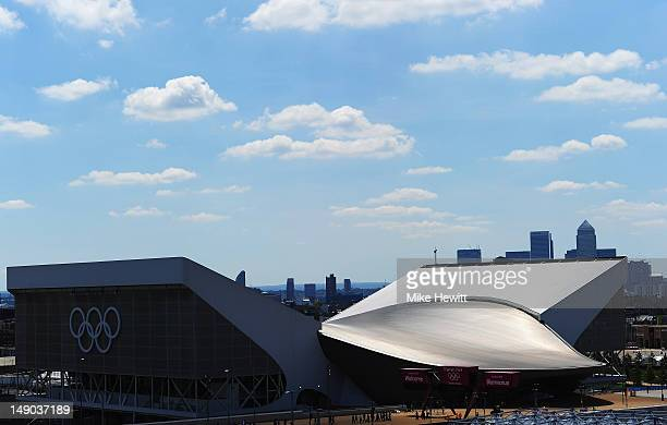General view of the Aquatic Centre at Olympic Park on July 22 2012 in London England