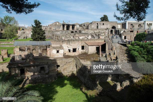 General view of the archaeological site on April 12 2014 in Pompei Italy The Italian government has enacted a series of provisions for the...