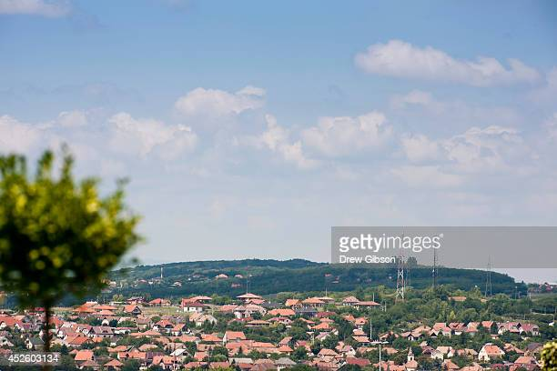 A general view of the area surrounding the track during previews ahead of the Hungarian Formula One Grand Prix at Hungaroring on July 24 2014 in...
