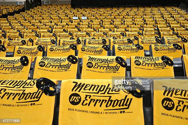 A general view of the arena before Game Three of the Western Conference Semifinals between the Memphis Grizzlies and the Golden State Warriors of the...