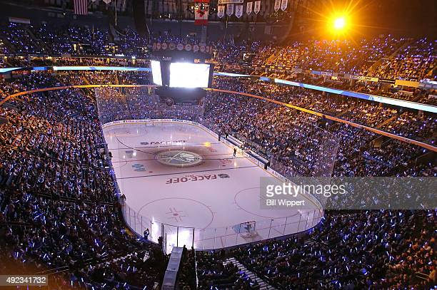 A general view of the arena before the Buffalo Sabres play the Ottawa Senators on October 8 2015 at the First Niagara Center in Buffalo New York