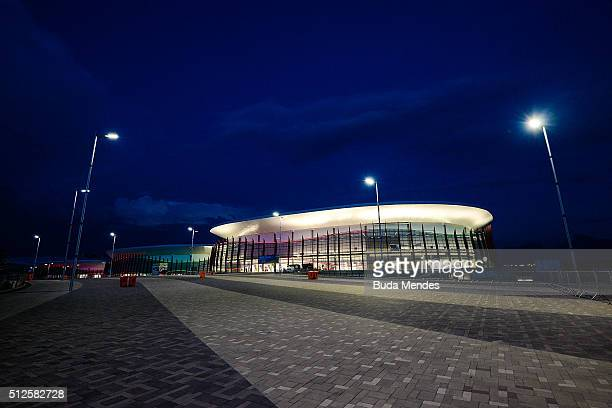 A general view of the Arena Carioca 12 and 3 at the Olympic Park during International Wheelchair Rugby Championship Aquece Rio Test Event for the Rio...