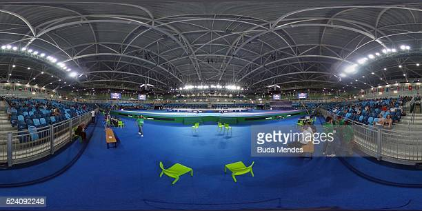 General view of the Arena Carioca 3 during International Fencing Tournament Aquece Rio Test Event for the Rio 2016 Olympics at the Olympic Park on...