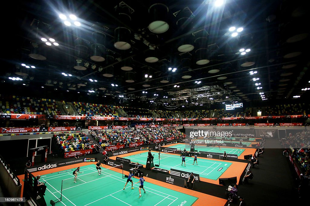 A general view of the arena during Day 3 of the London Badminton Grand Prix at The Copper Box on October 3, 2013 in London, England.