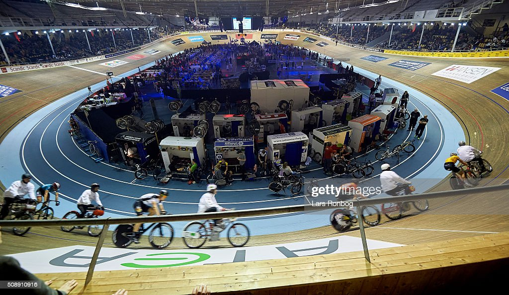 General view of the arena during day four at the Copenhagen Six Days Race Cycling at Ballerup Super Arena on February 7, 2016 in Ballerup, Denmark.