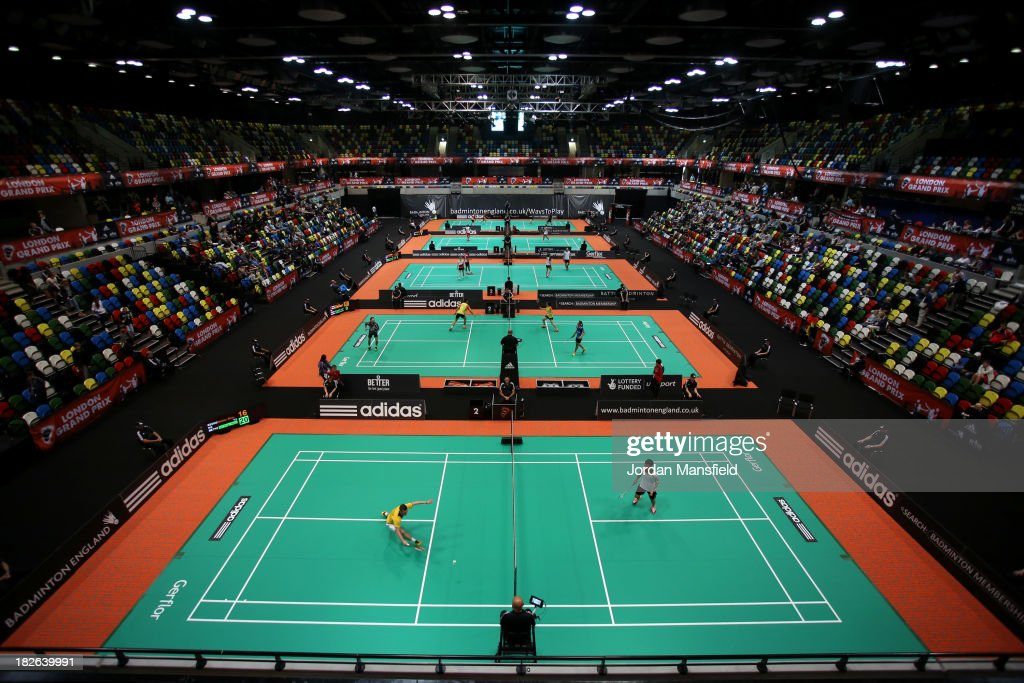 A general view of the arena during Day Two of the London Badminton Grand Prix at The Copper Box on October 2, 2013 in London, England.