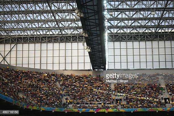 A general view of the Arena during the 2014 FIFA World Cup Brazil Group F match between Iran and Nigeria at Arena da Baixada on June 16 2014 in...