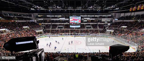 General view of the arena during the DEL match between Duesseldorfer EG and Koelner Haie at ISS Dome on November 20 2016 in Duesseldorf Germany