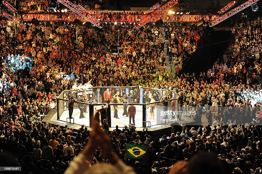 A general view of the arena during the heavyweight championship fight betweenJunior dos Santos and Cain Velasquez at UFC 155 on December 29, 2012 at MGM Grand Garden Arena in Las Vegas, Nevada.