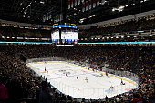 General view of the arena during the NHL preseason game between the Montreal Canadiens and the Pittsburgh Penguins at the Videotron Centre on...