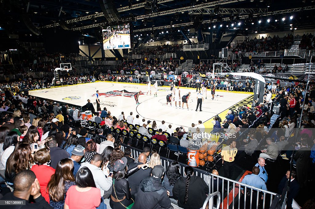 A General view of the arena during the Sprint NBA All-Star Celebrity Game in Sprint Arena at Jam Session during the NBA All-Star Weekend on February 15, 2013 at the George R. Brown Convention Center in Houston, Texas.
