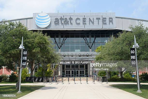 General view of the arena outside prior the Game One of the Western Conference Finals between the Memphis Grizzlies and the San Antonio Spurs during...