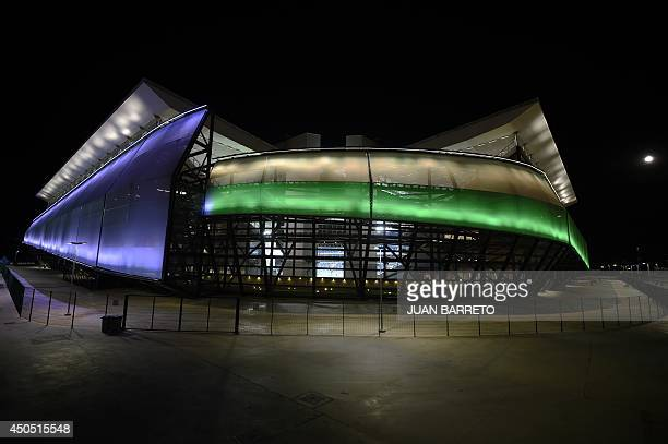 General view of the Arena Pantanal stadium in Cuiaba Brazil on June 12 where Chile will face Australia for a FIFA World Cup match on Friday AFP...